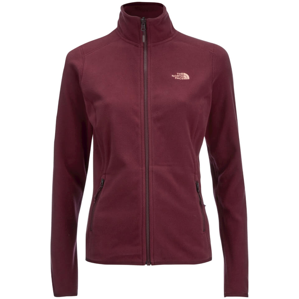 the-north-face-women-100-glacier-full-zip-fleece-deep-garnet-red-xs