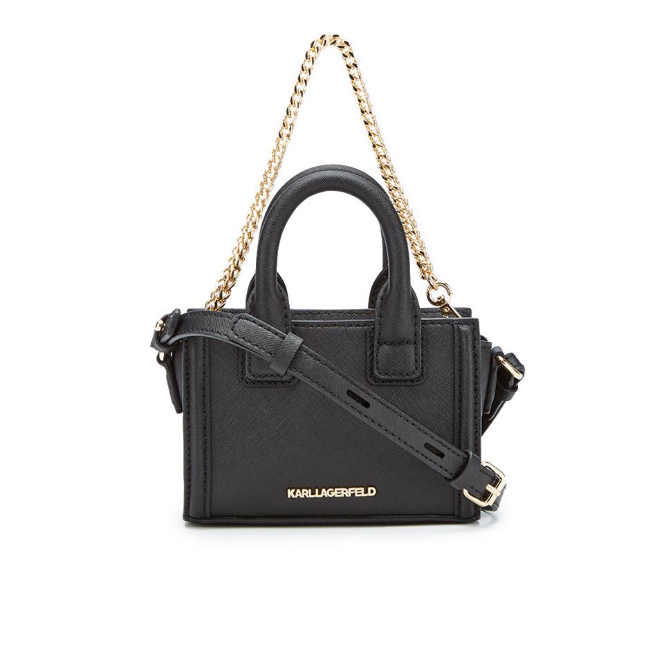 Karl Lagerfeld Women S K Klassik Micro Tote Bag Black