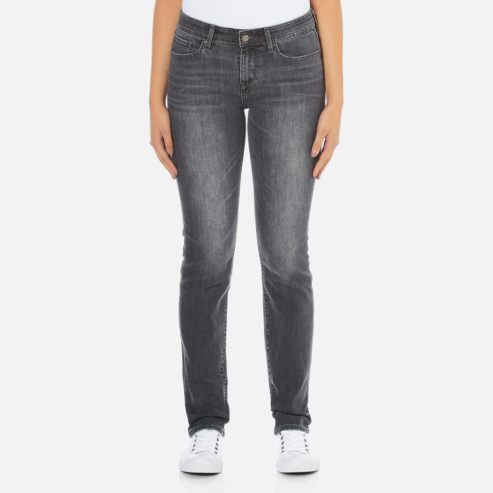 Levis Womens 712 Slim Straight Fit Jeans Burnt Ash W27/l32