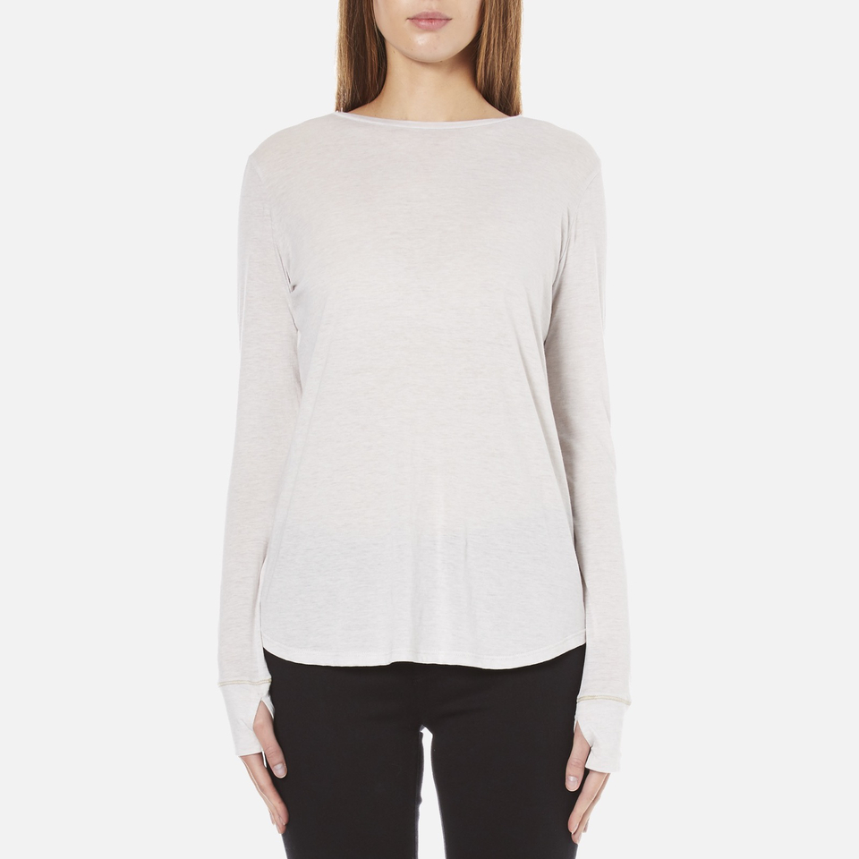 Helmut Lang Women 39 S Long Sleeve Thumb Hole T Shirt White