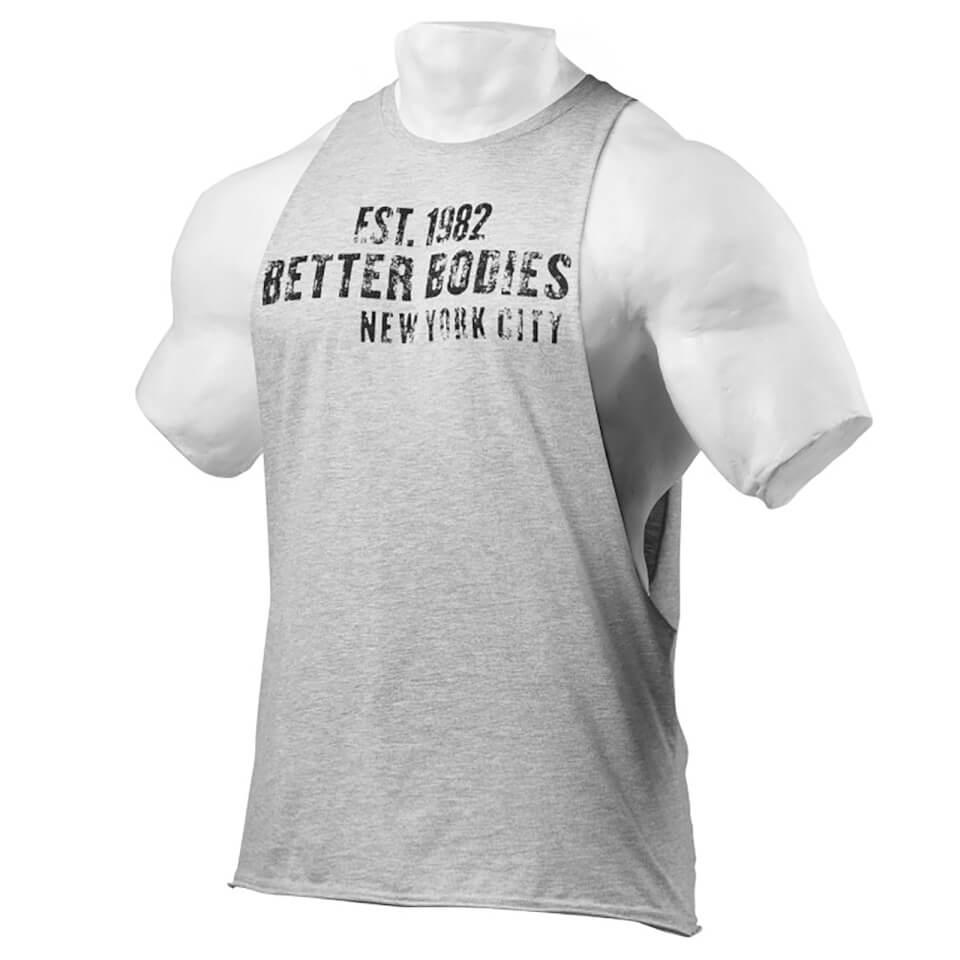 better-bodies-graphic-logo-short-sleeve-t-shirt-grey-melange-xl-harmaa