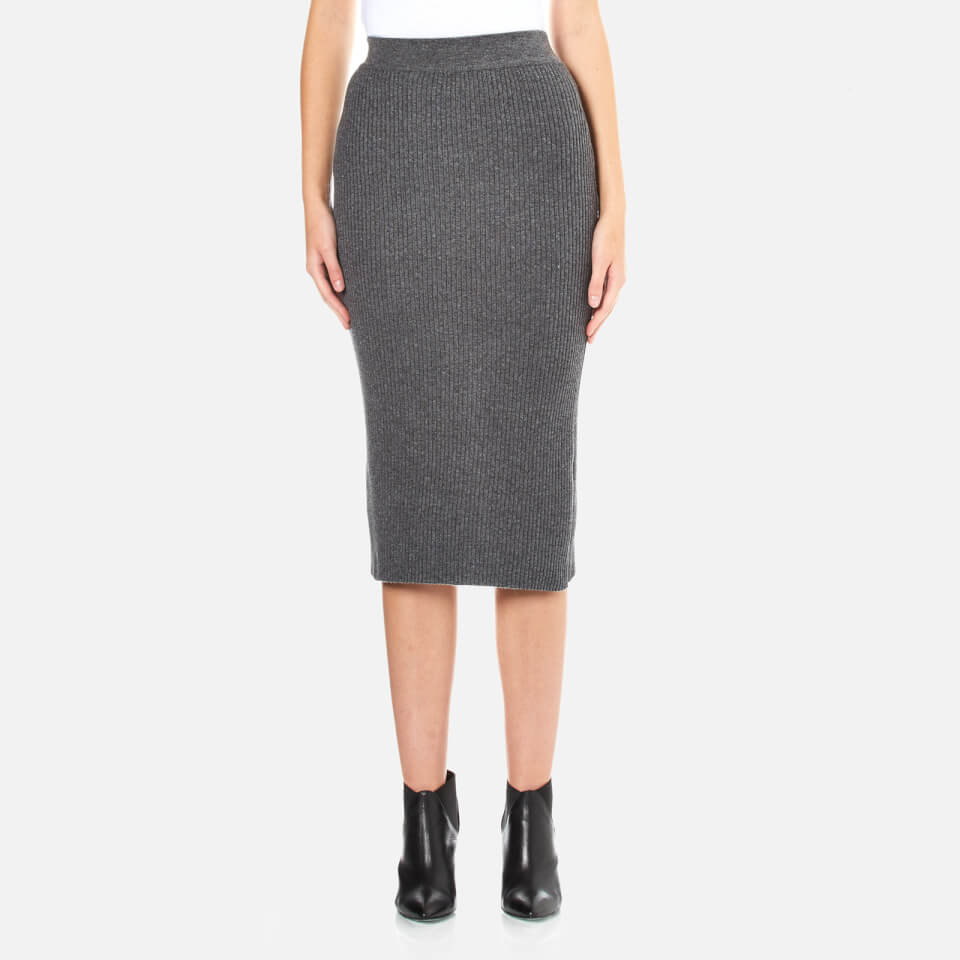 paisie-women-ribbed-midi-skirt-marl-grey-m-10-grey