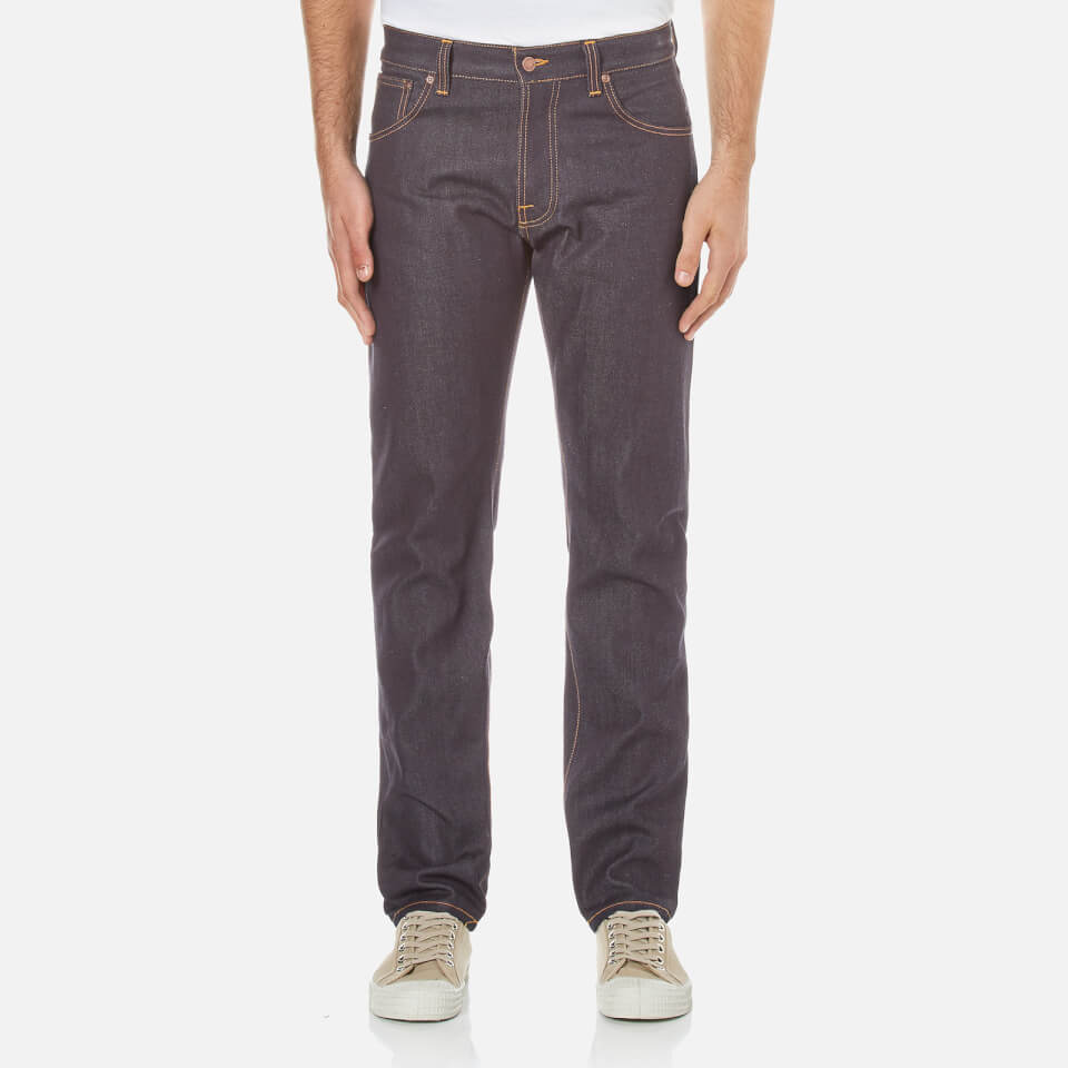 Nudie Jeans Mens Steady Eddie Regular/straight Leg Jeans Dry Classic Orange W30/l30