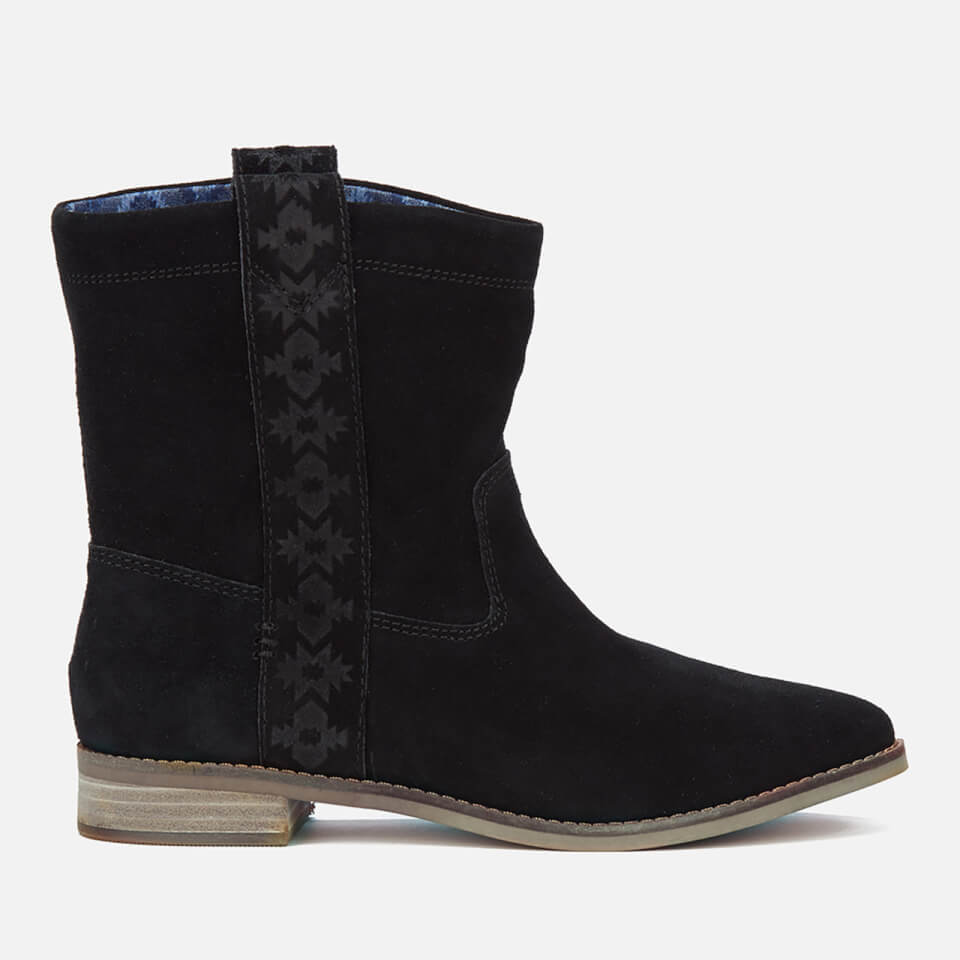 toms s laurel suede pull on slouch boots black
