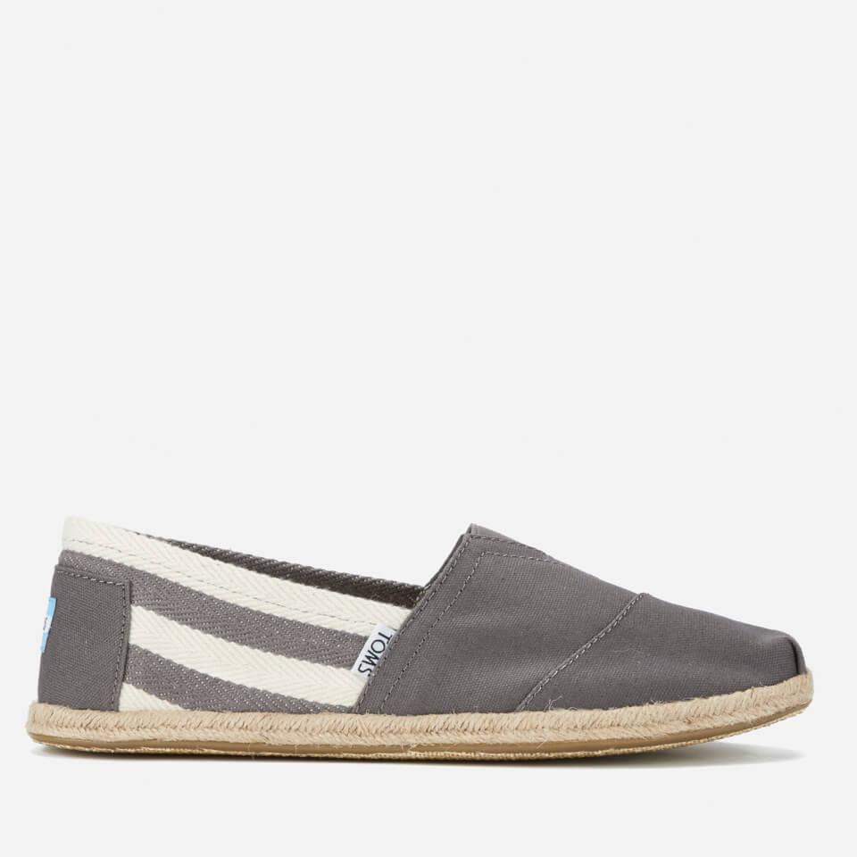 031d778cecb1 TOMS Men s University Classics Slip-On Pumps - Dark Grey Stripe Mens  Footwear