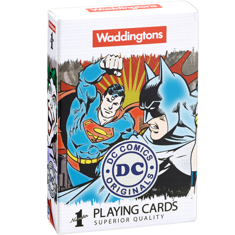 Image of Waddingtons Number 1 Playing Cards - DC Superheroes Edition
