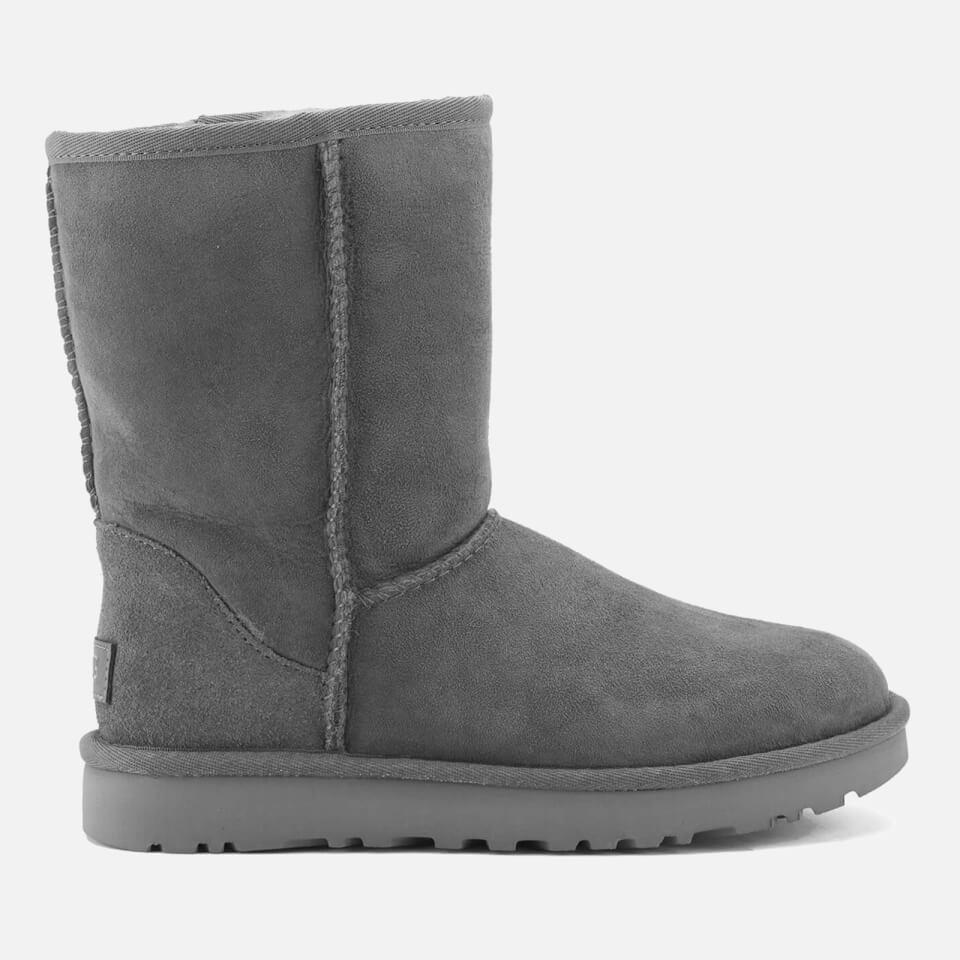 Ugg Women S Classic Short Ii Sheepskin Boots Grey Free