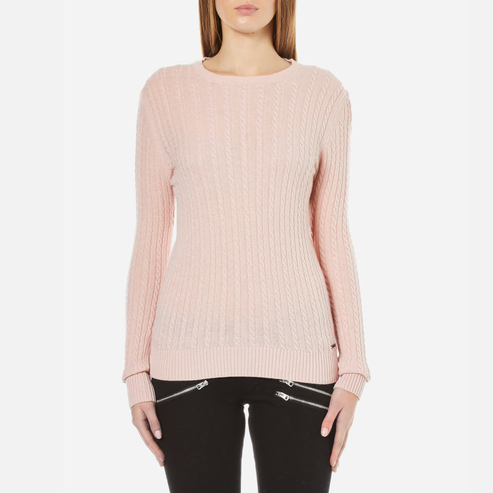 Superdry Women's Luxe Mini Cable Knit Jumper - Pink Womens ... - photo #15
