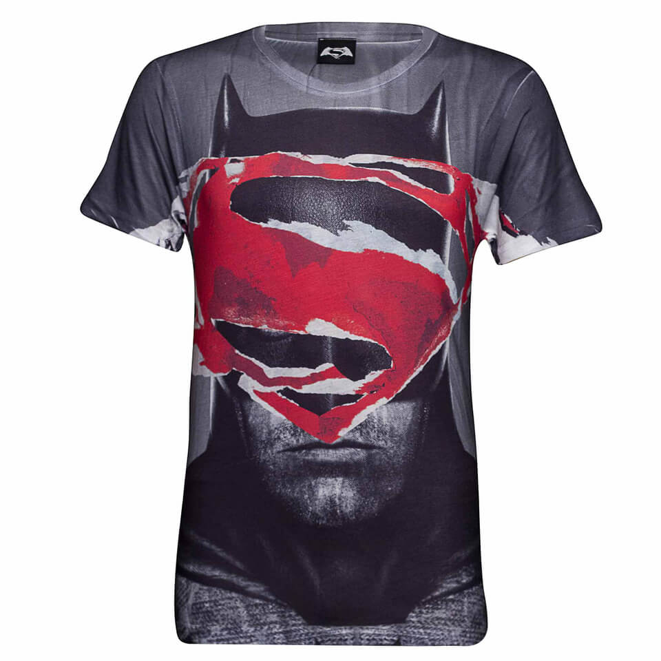 DC Comics Men's Superman Tear T Shirt Grau XXL Grau
