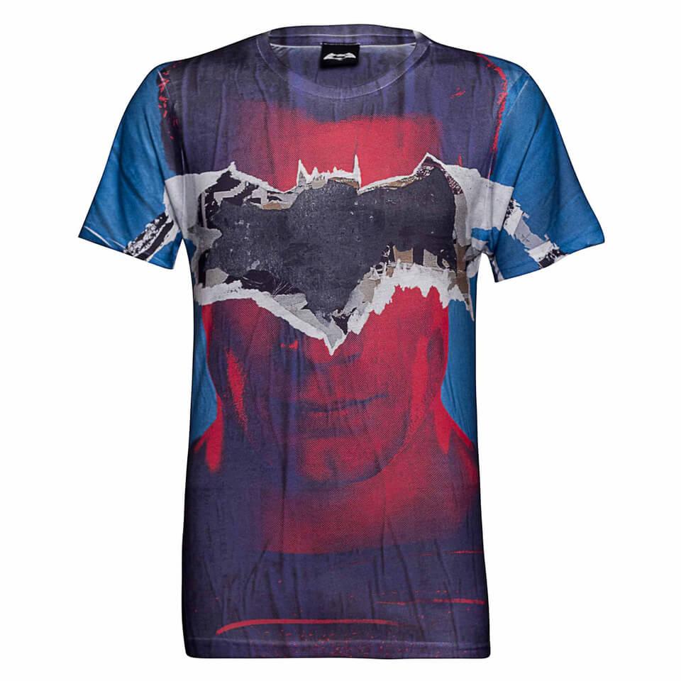 DC Comics Men's Batman Tear T Shirt Blau XXL Blau