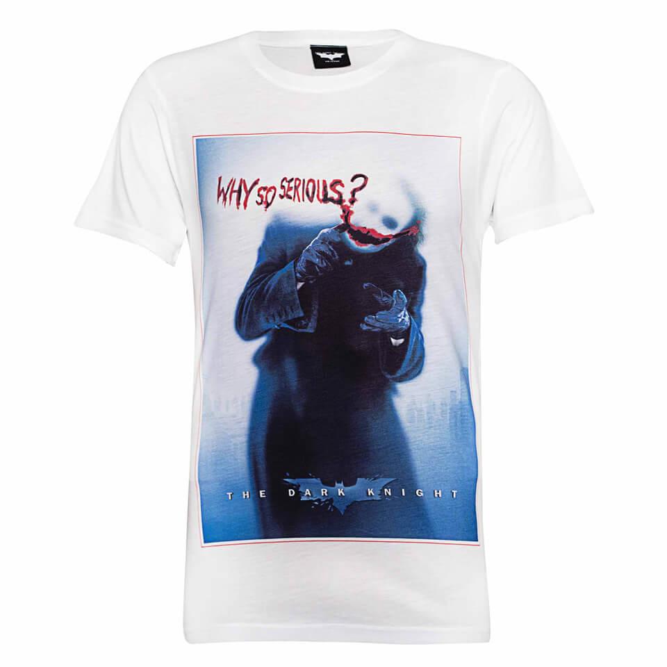 DC Comics Herren Batman The Joker Why So Serious T Shirt Weiß XXL Weiß