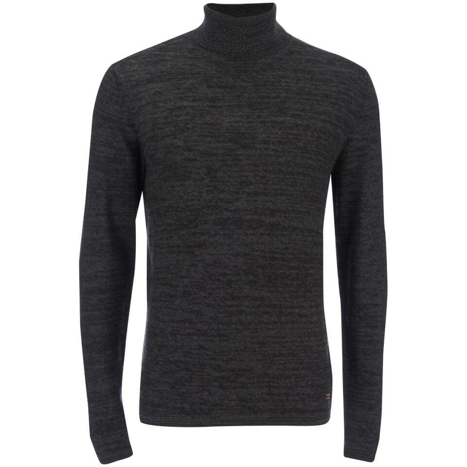 produkt-men-roll-neck-jumper-dark-grey-melange-m