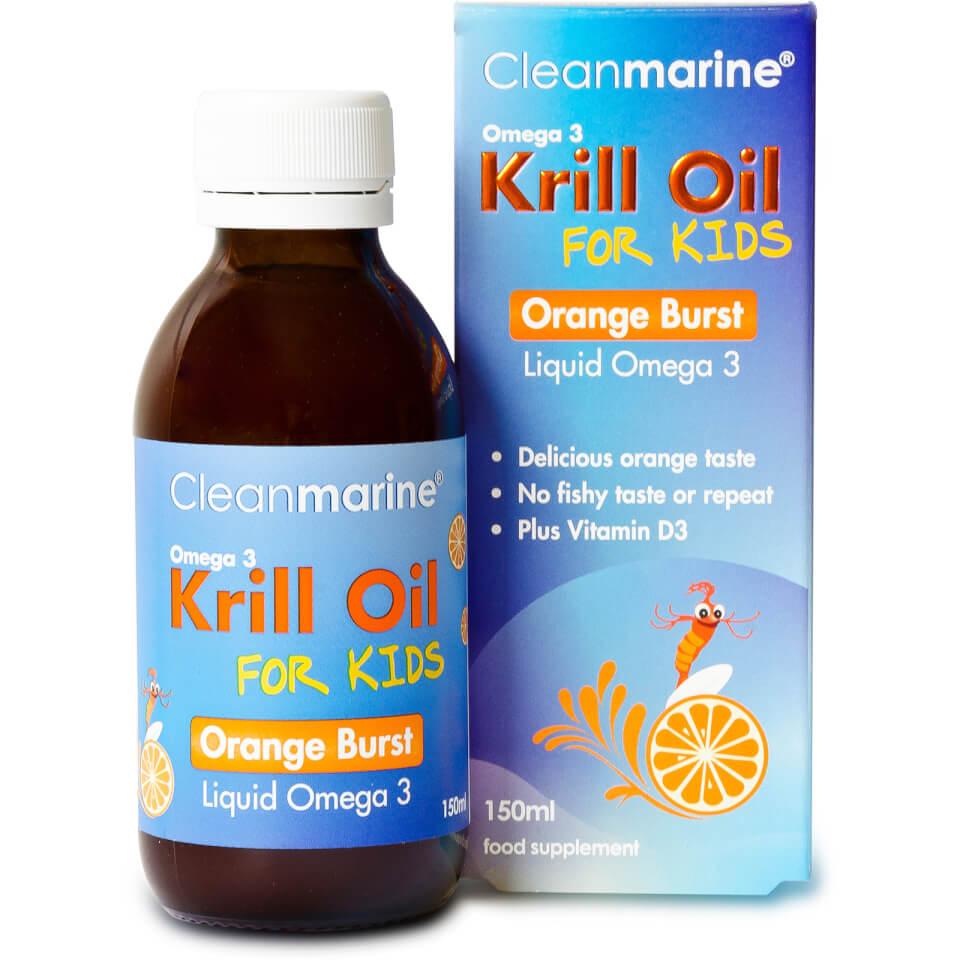 cleanmarine-krill-oil-for-kids-orange-burst-liquid-omega-3-150ml