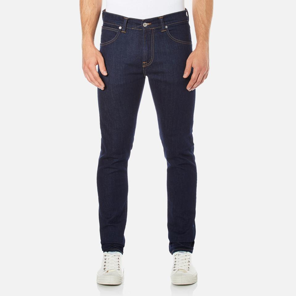 Edwin Mens Ed-85 Slim Tapered Drop Crotch Jeans Rinsed Blue W36/l32
