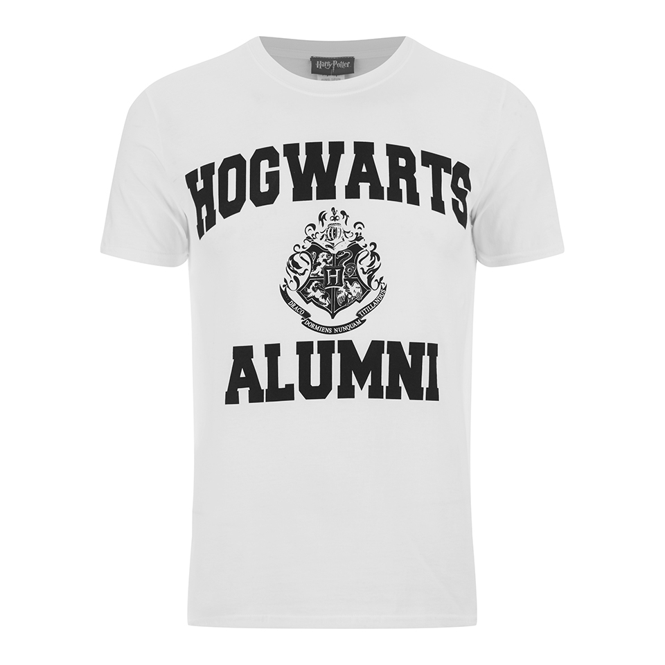 Harry Potter Men's Hogwarts Alumni T Shirt White M