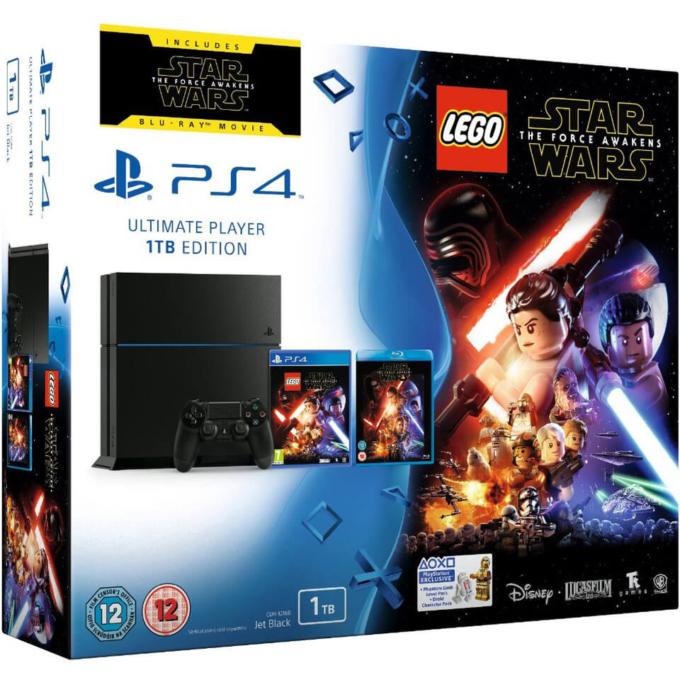 sony-playstation-4-1tb-includes-lego-star-wars-the-force-awakens-star-wars-the-force-awakens-blu-ray