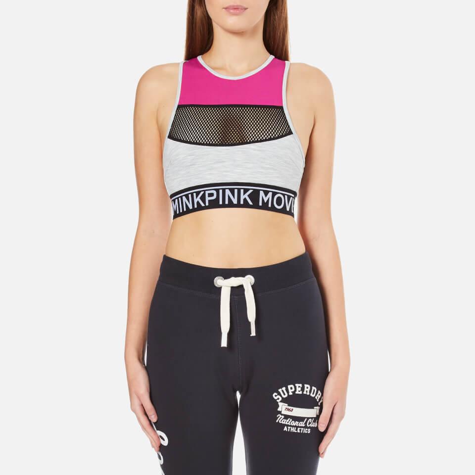 Minkpink Womens Elevation Racerback Sports Bra Multi S