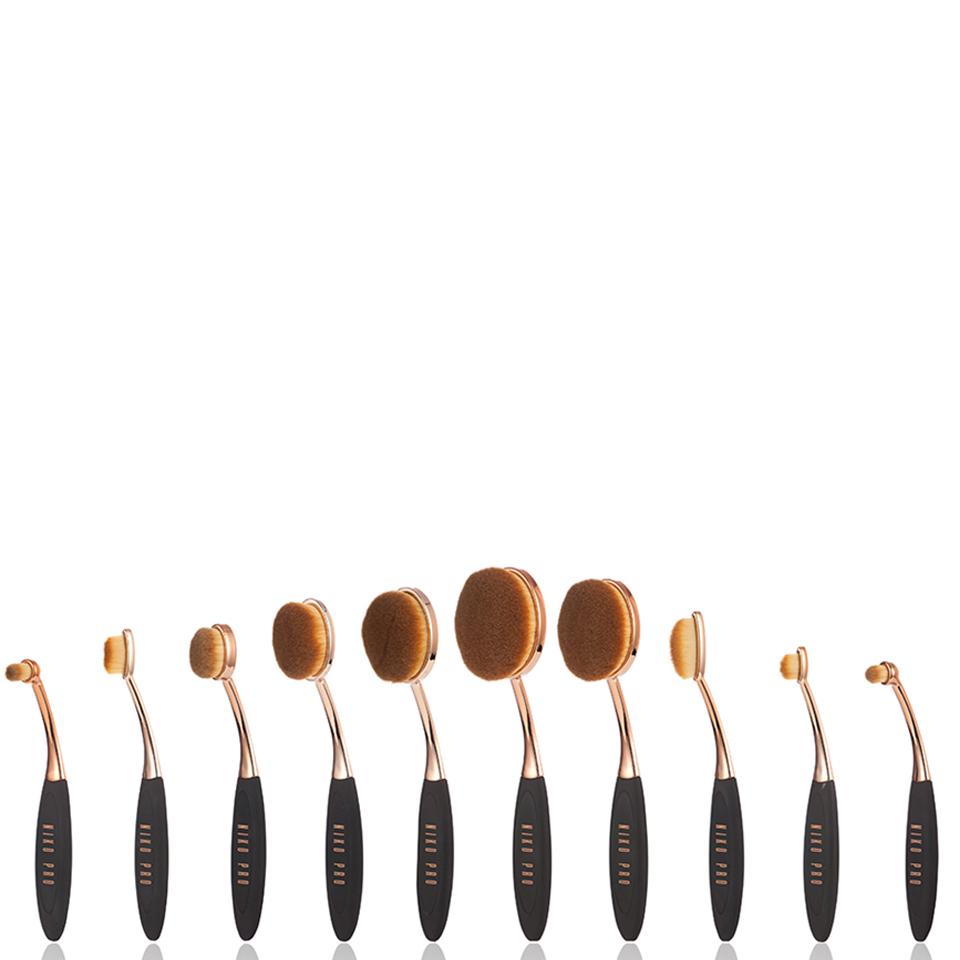 niko-pro-complete-ova-brush-set-black-rose-gold