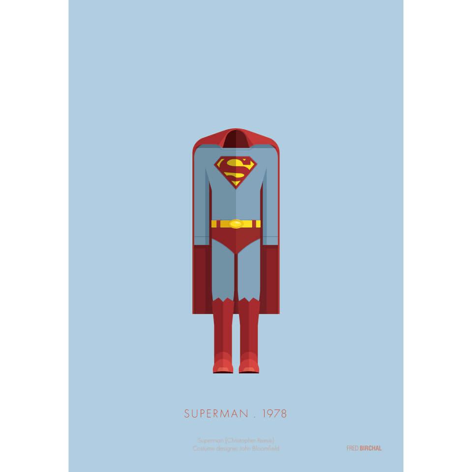 Superman Costume Art Print 14 x 11