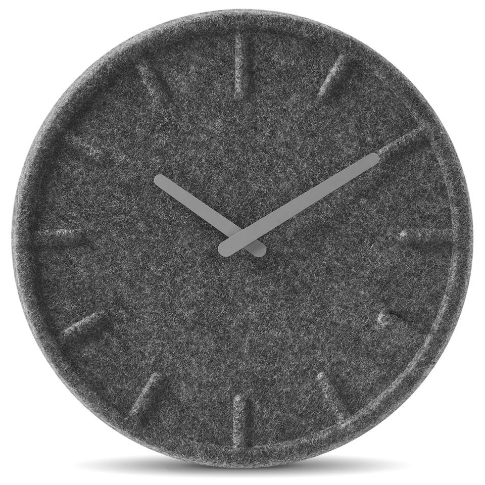 leff-amsterdam-felt-clock-grey-35cm