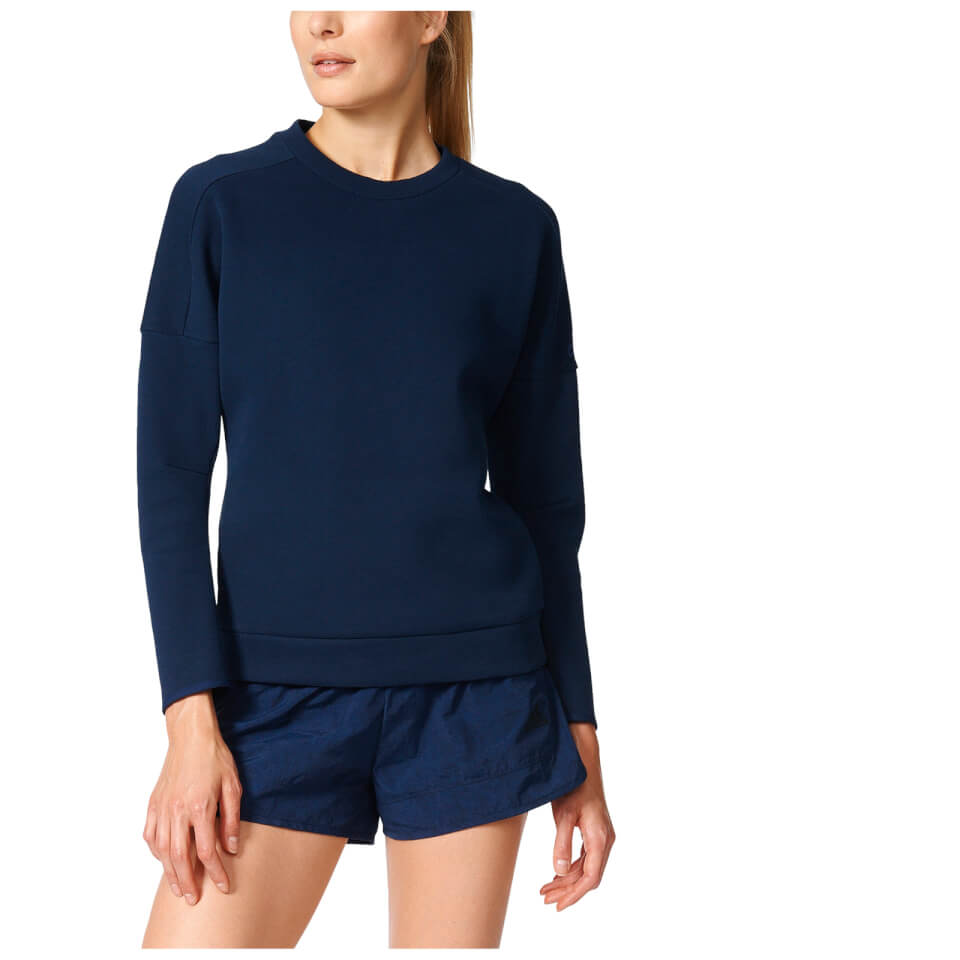 adidas-women-zne-training-crew-sweatshirt-navy-s