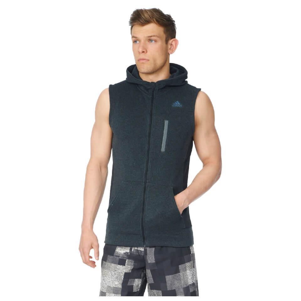 Adidas Mens Ultimate Full Zip Running Vest Black S