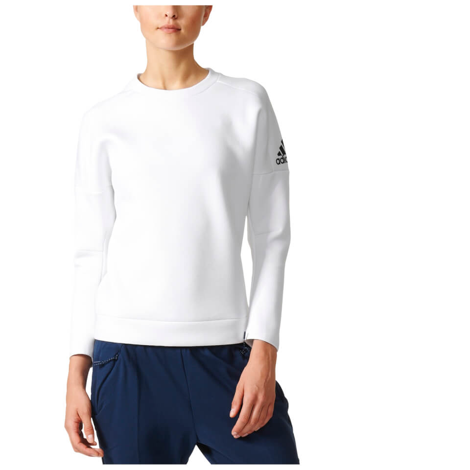 adidas-women-zne-training-crew-sweatshirt-white-m