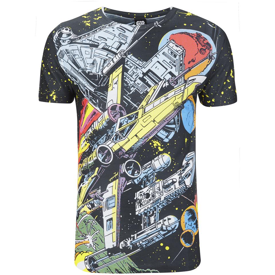 Star Wars Herren Comic Battle T Shirt Weiß XL Weiß