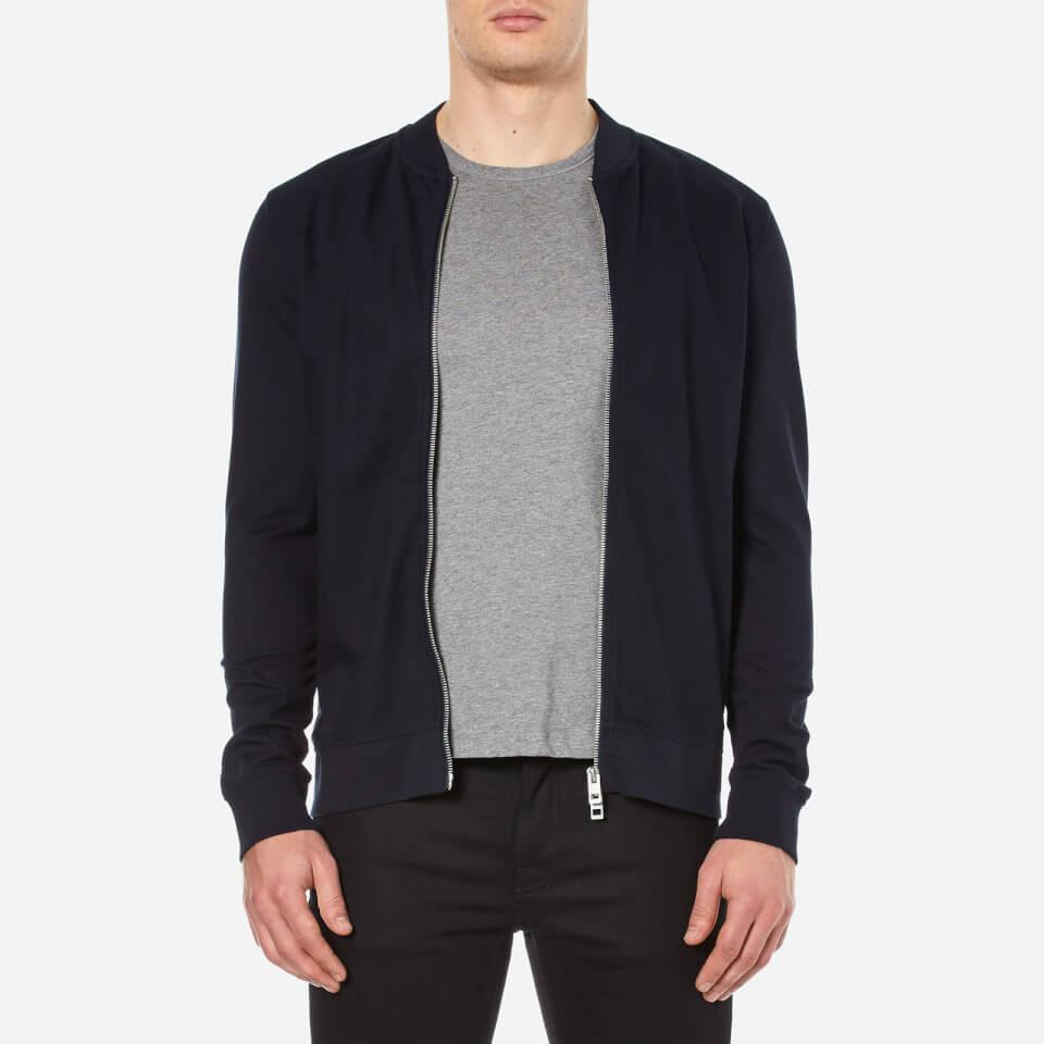 Boss Orange Mens Ztripe Zipped Sweatshirt Dark Blue M