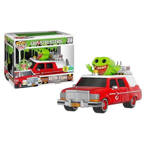 Ghostbusters ECTO 1 Slimer Pop! Ride Vinyl Figure SDCC 2016 Exclusive