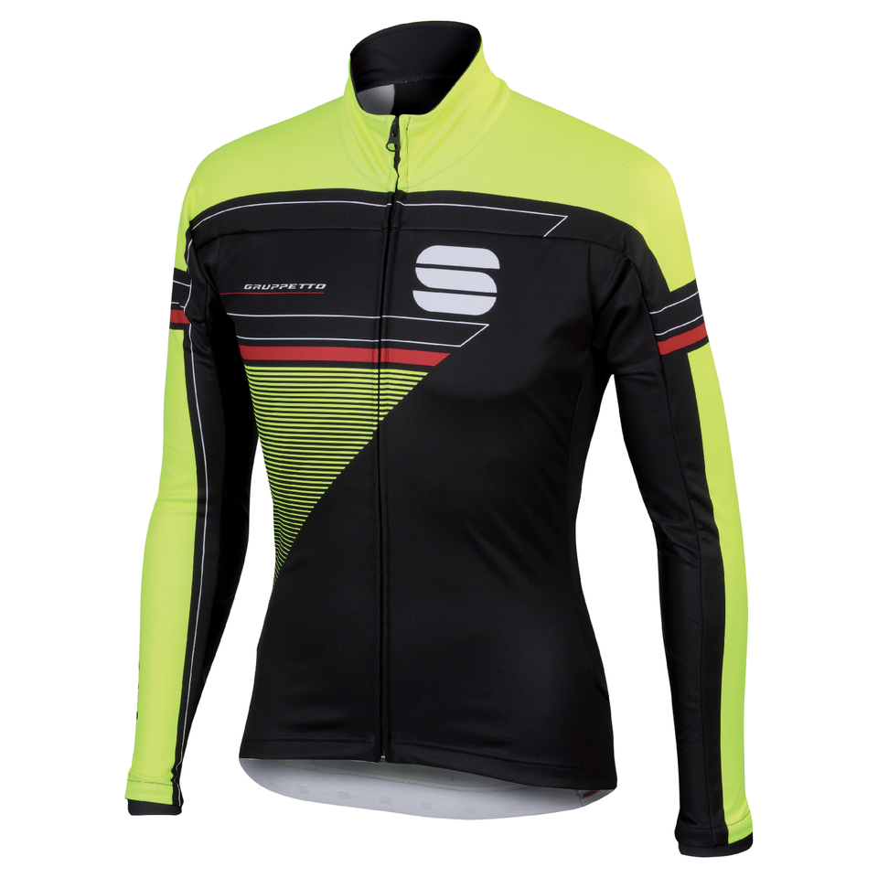 sportful-gruppetto-partial-windstopper-jacket-black-yellow-s-black-yellow