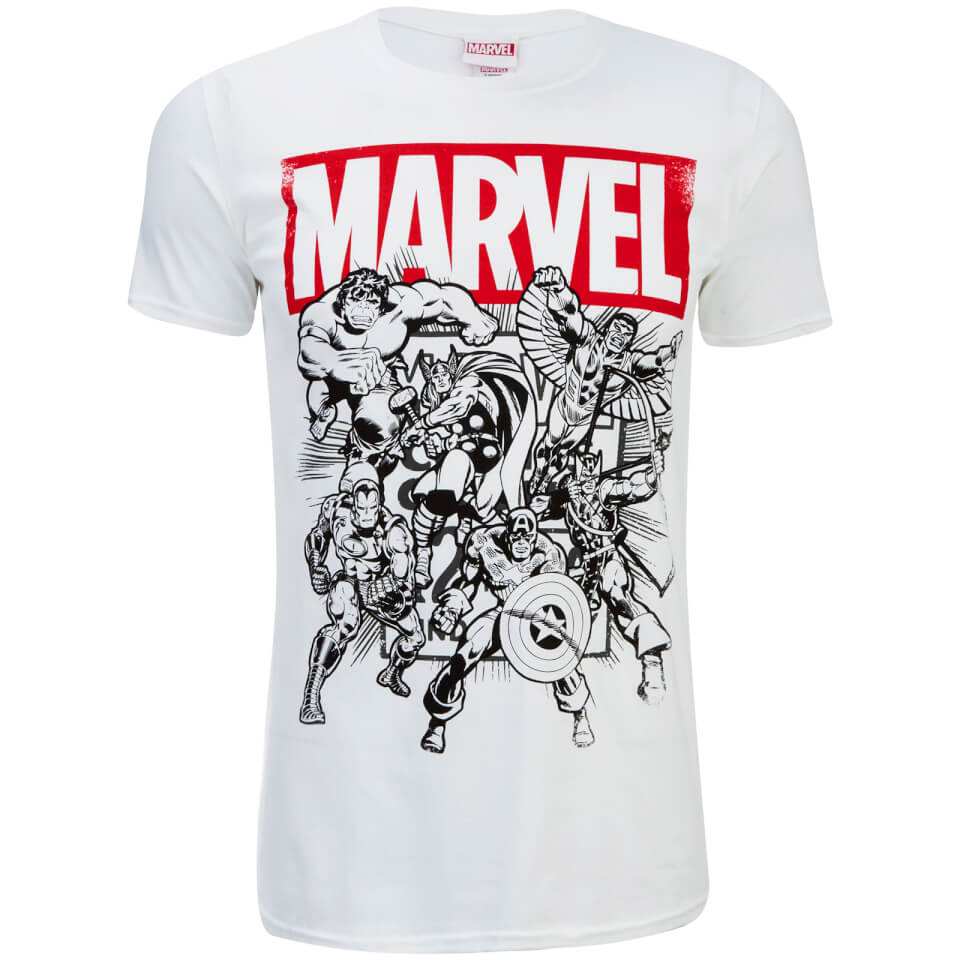 Marvel Men's Collection T Shirt White M