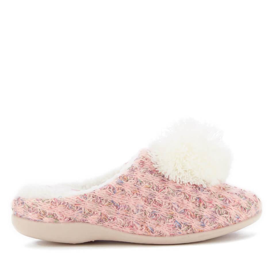 Zapatillas de casa Dunlop Adeline - Mujer - Rosa - UK 8 - Rosa