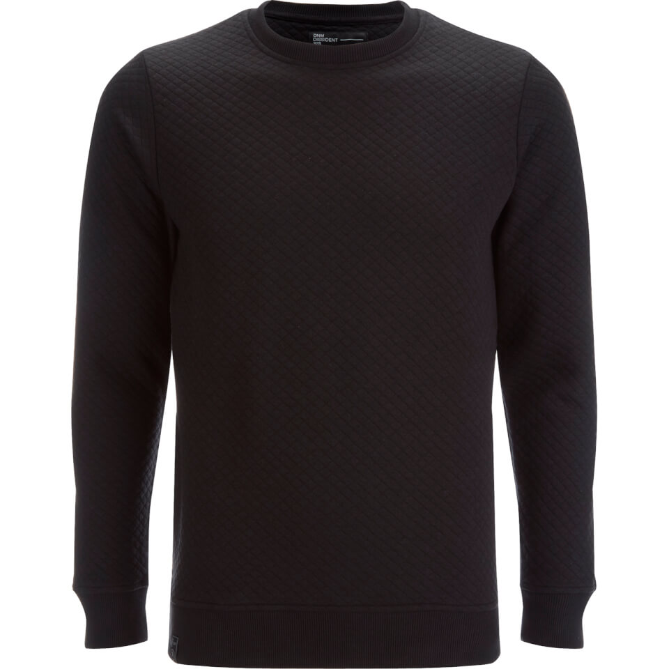 dissident-men-claredale-quilted-sweatshirt-black-s