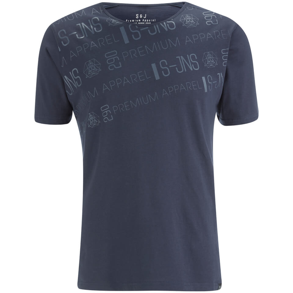 Smith Jones Men 39 S Reredox Print T Shirt Navy Clothing