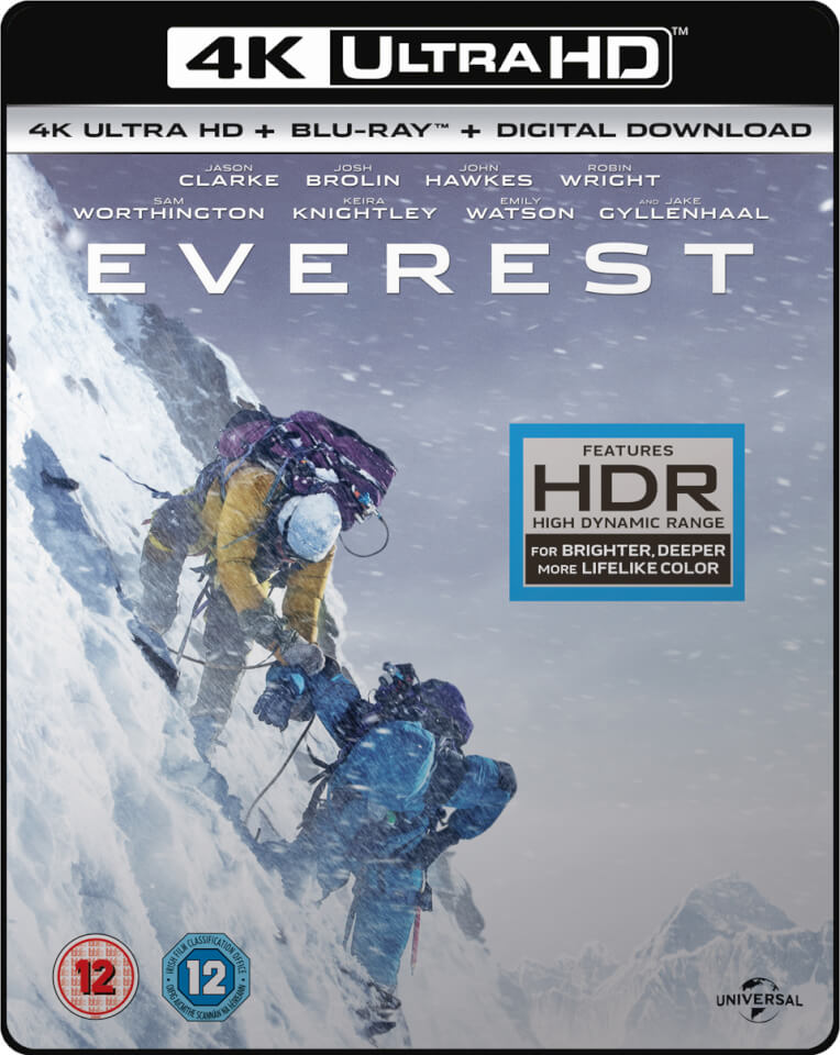 everest 4k ultra hd includes ultraviolet copy blu ray. Black Bedroom Furniture Sets. Home Design Ideas