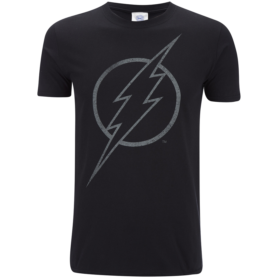 DC Comics Herren The Flash Line Logo T Shirt Schwarz XXL Schwarz