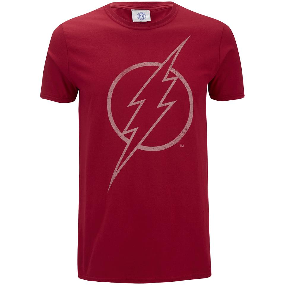 DC Comics Men's The Flash Line Logo T Shirt Cardinal Red XXL Rot
