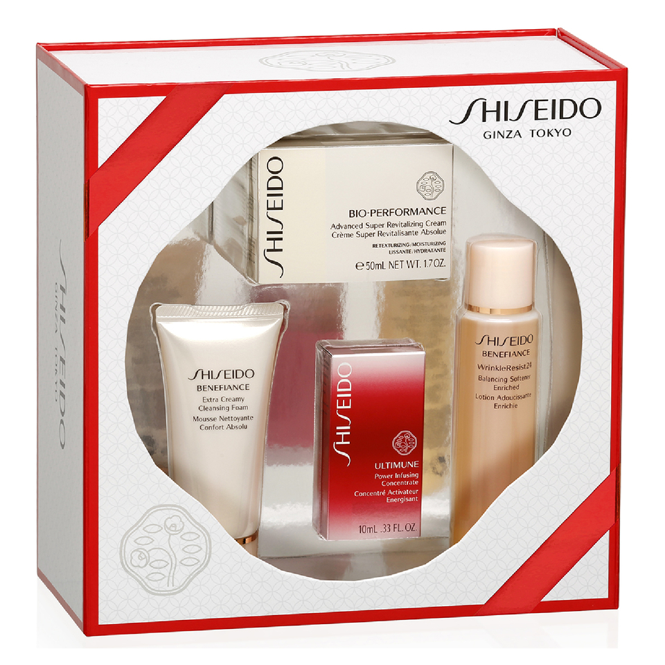 Shiseido Bio Performance Advanced Super Revitalizing Cream Kit Vital Perfection Treatment Cleansing Foam 30ml Free Delivery