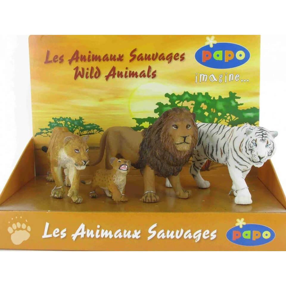Papo Wild Animal Kingdom: Display Box Big Cats (4 Figurines)