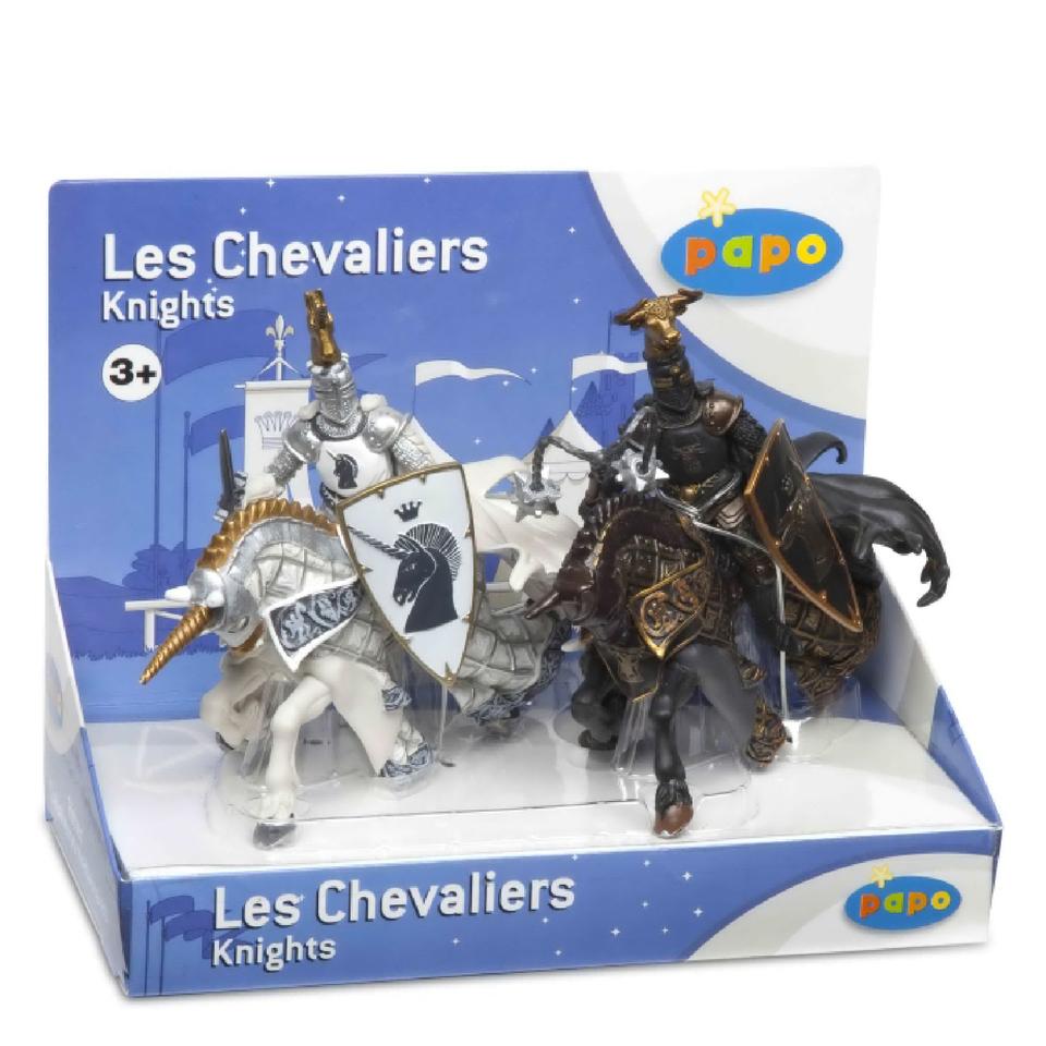 papo-medieval-era-display-box-weapons-knight-bull-unicorn