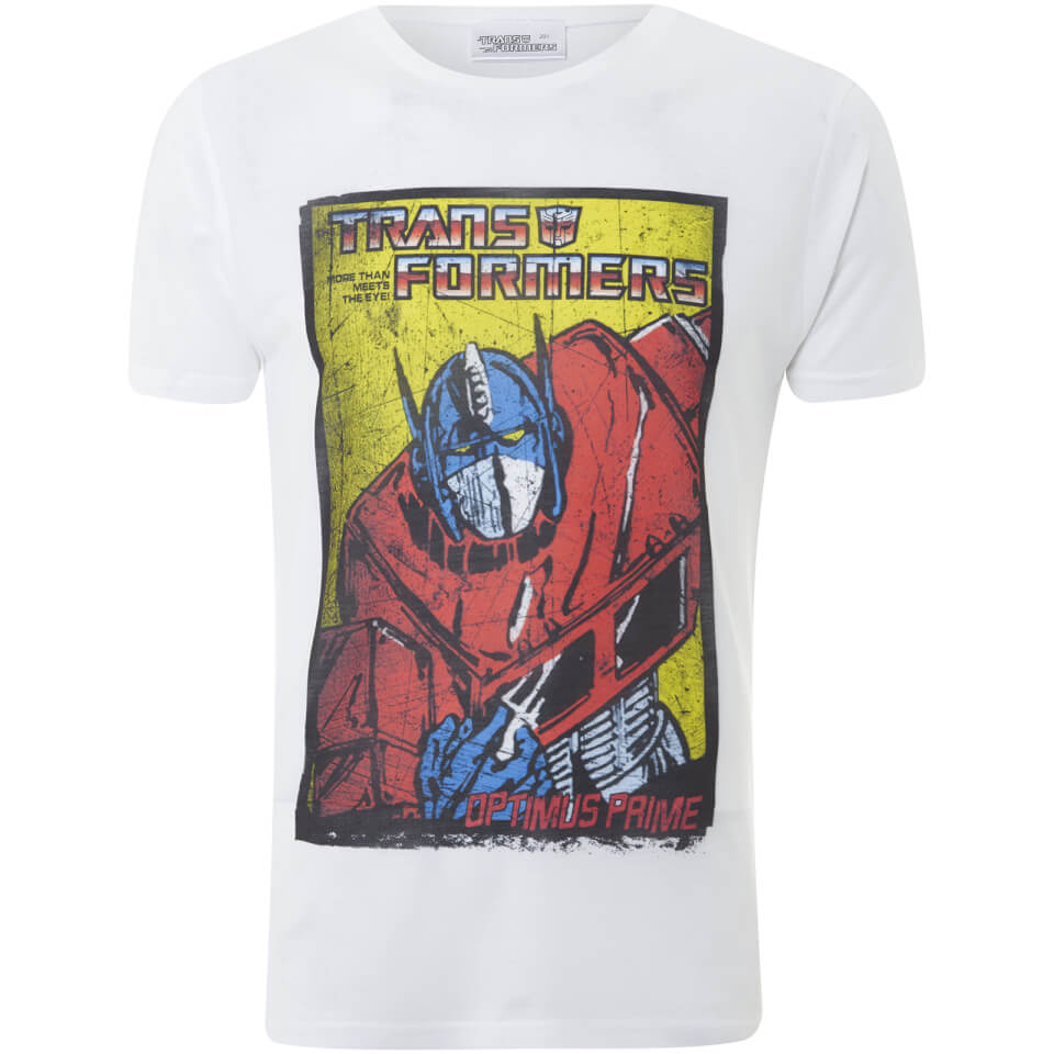 Transformers Men's Optimus Prime T Shirt Weiß XXL Weiß