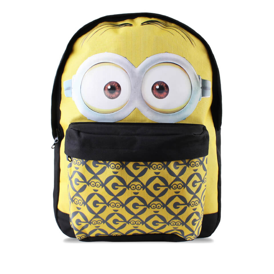 Minions Men's Dave Face Backpack Yellow