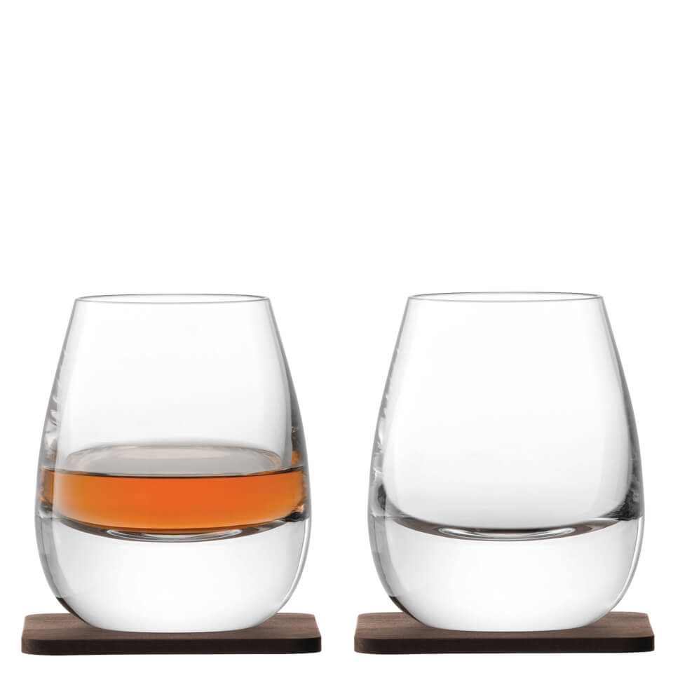 lsa-whisky-islay-tumblers-walnut-coasters-250ml-set-of-2