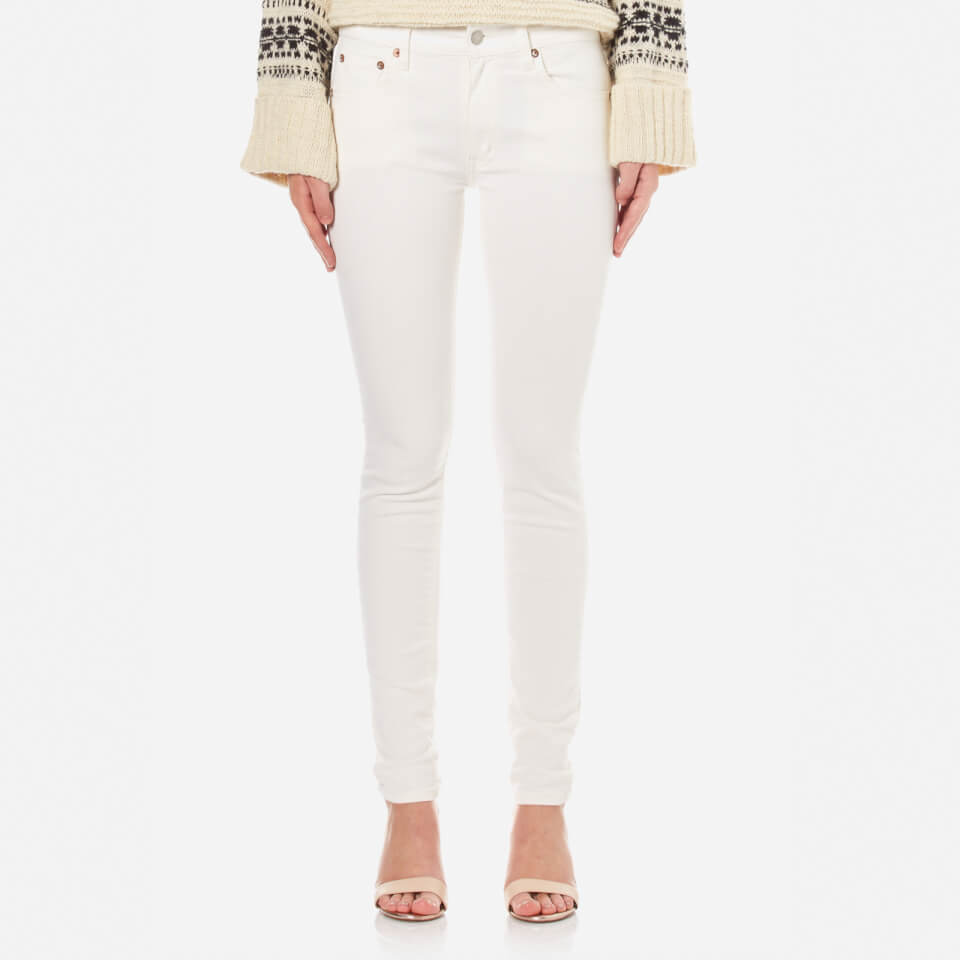Polo Ralph Lauren Womens Tompkins Jeans Cream W25