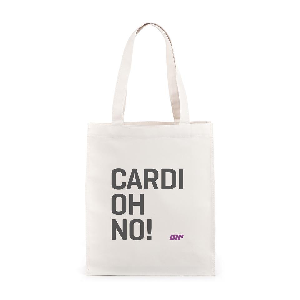 cardiohno-slogan-gym-bag