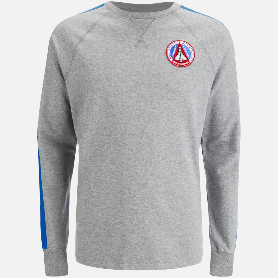 billionaire-boys-club-men-approach-landing-raglan-crew-neck-sweatshirt-heather-grey-blue-l-grey