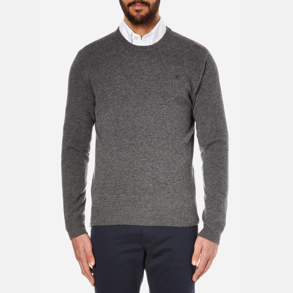 hackett-london-men-lambswool-crew-neck-knitted-jumper-grey-melange-s