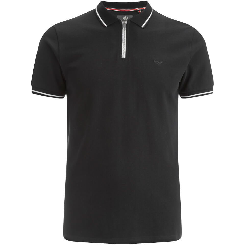 threadbare-men-redcar-short-sleeve-zip-polo-shirt-black-m