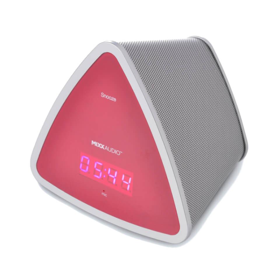 Ausgefallengadgets - Mixx S3 Bluetooth Speaker Clock Pink - Onlineshop Sowas Will Ich Auch